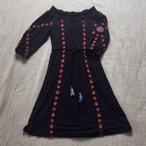 Off the shoulder knit dress